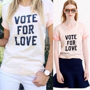 J.CREW Vote For Love T-shirt